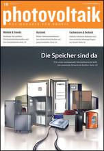 """Fachzeitschrift """"photovoltaik"""" mit Batteriespeichersystemen für Solarstrom"""