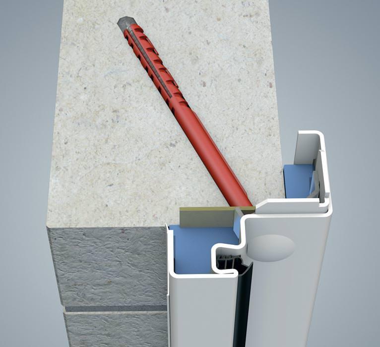 Stahleckzarge  Verdeckte Eckzargen-Befestigung für Sichtmauerwerk und Beton ...