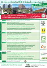11. FBB-Gründachsymposium am 21. Februar 2013 in Ditzingen bei Stuttgart