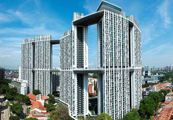 das 164 Meter hohe Wohnhochhaus Pinnacle@Duxton (Singapur) von ARC Studio Architecture+ Urbanism, Singapur