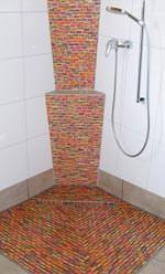 Duschrinnensystem mit Lastverteilungsplatte