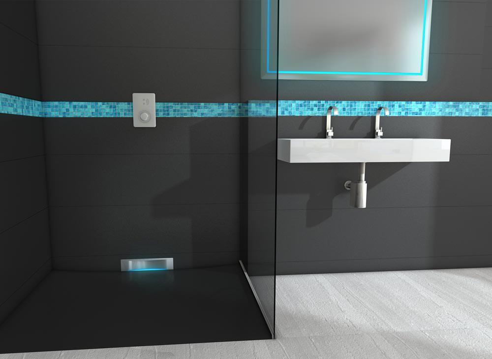 beleuchteter wandeinlauf im kesseldesign sortiment f r barrierefreie duschen. Black Bedroom Furniture Sets. Home Design Ideas