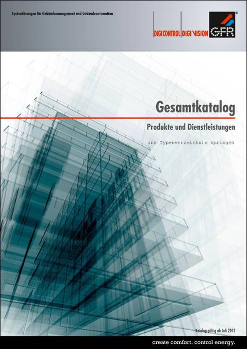 gfr gesamtkatalog mit systeml sungen f r die geb udeautomation. Black Bedroom Furniture Sets. Home Design Ideas