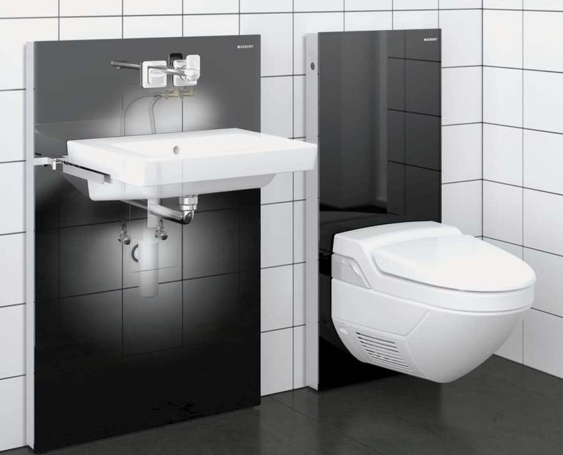 Neues Monolith-Installationselement: Waschtischmodul und Badmöbel in ...