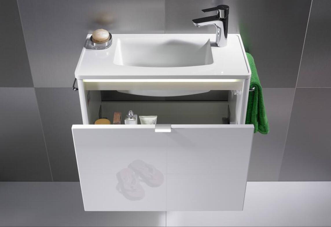 """oredo""""-Waschplatz - mit Lichtbändern und Oberflächen für Disco bis ..."""