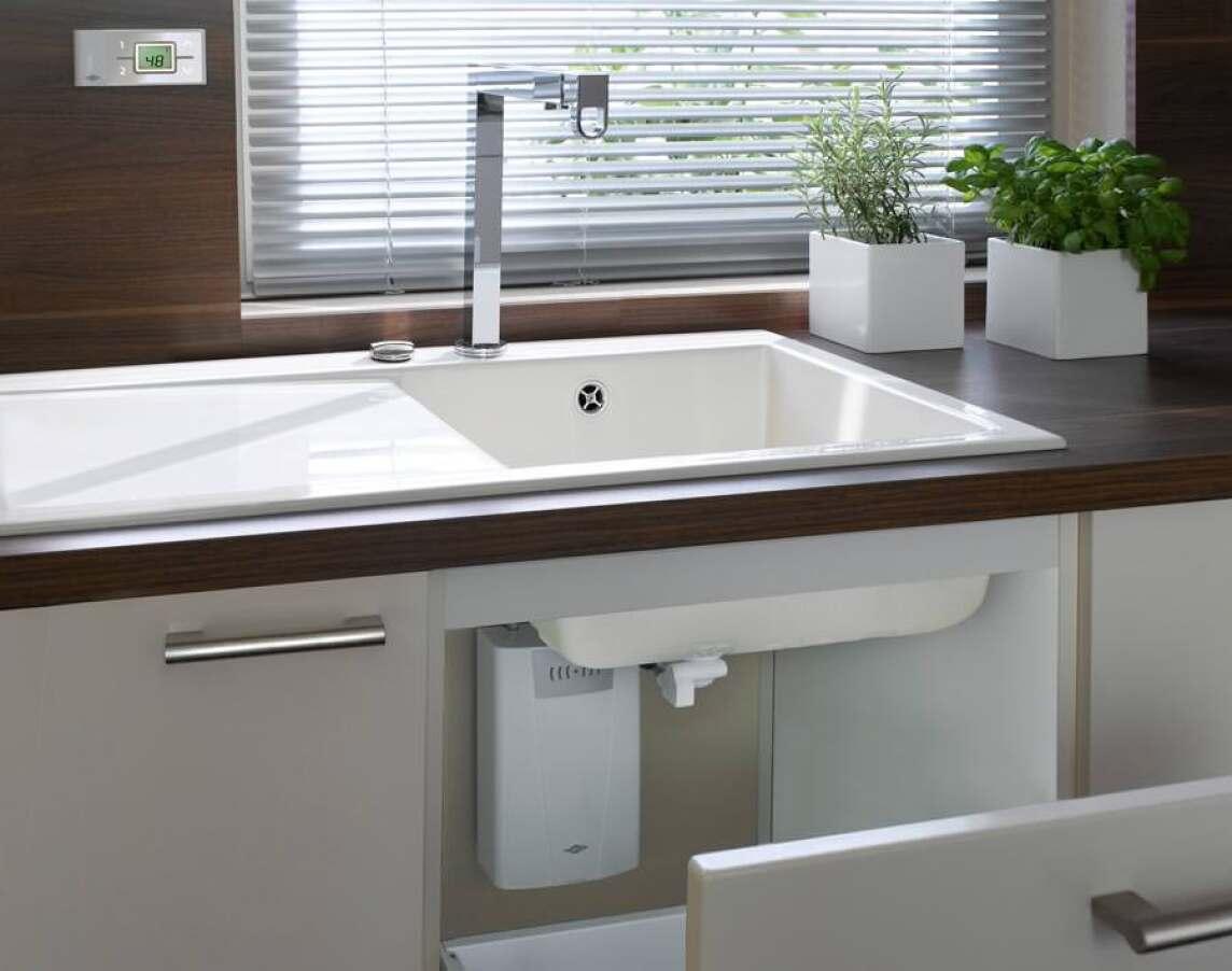 Neue Heißwassertechnik von Clage für die Küchenspüle