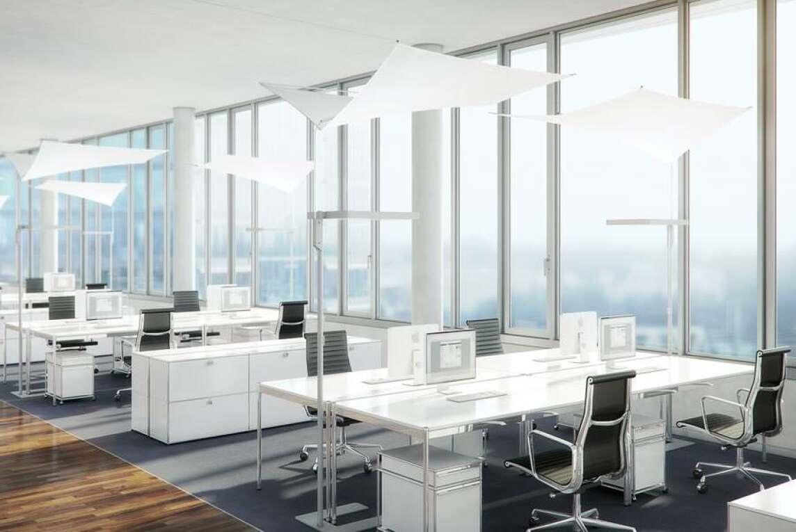 Neue licht und akustiksegel von waldmann und structurelab einhergehend mit den modernen offenen broformen ist auch der grad der lrmbelastung am arbeitsplatz gestiegen durch ihr spezialgewebe knnen die segel in parisarafo Choice Image