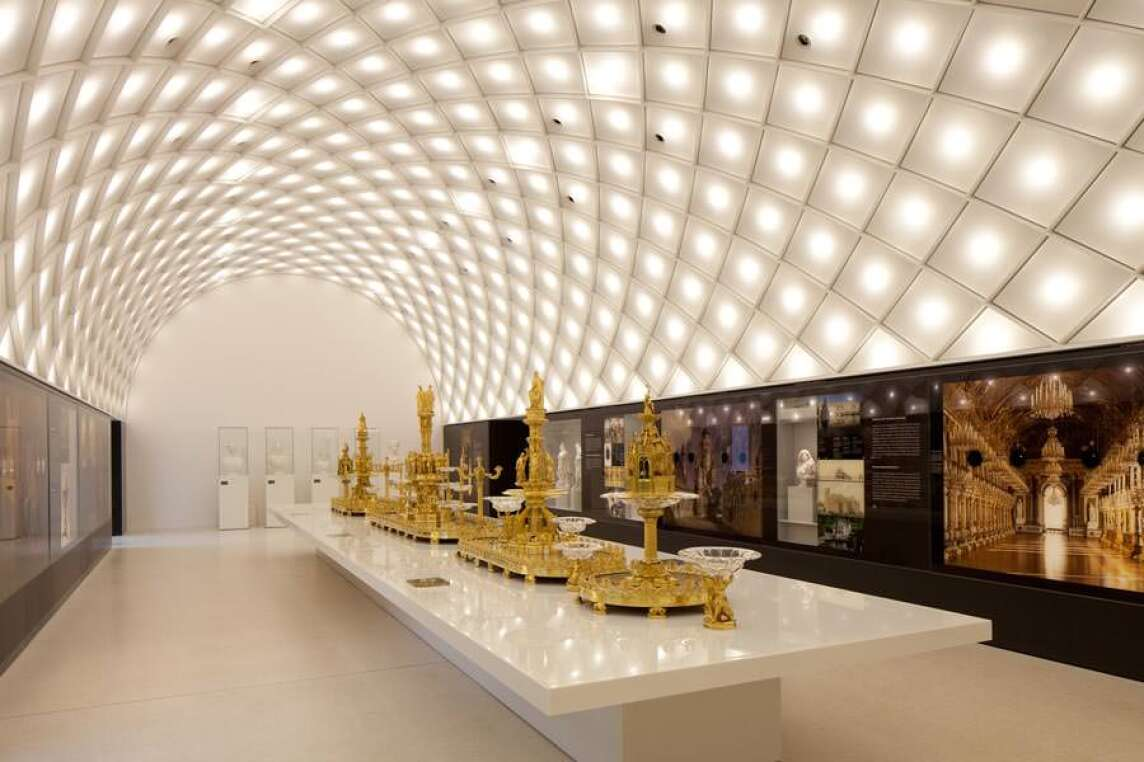 Saal der Koenige Wittelsbacher Ausgleichfonds Museum der bayerischen Koenige Hohenschwangau