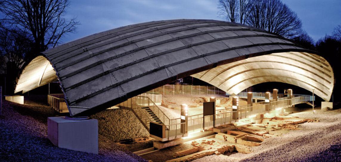 Das Dach über der Ausgrabungsstätte der St. Antony-Hütte in Oberhausen ist mit dem Stahl-Innovationspreis 2012 ausgezeichnet worden.