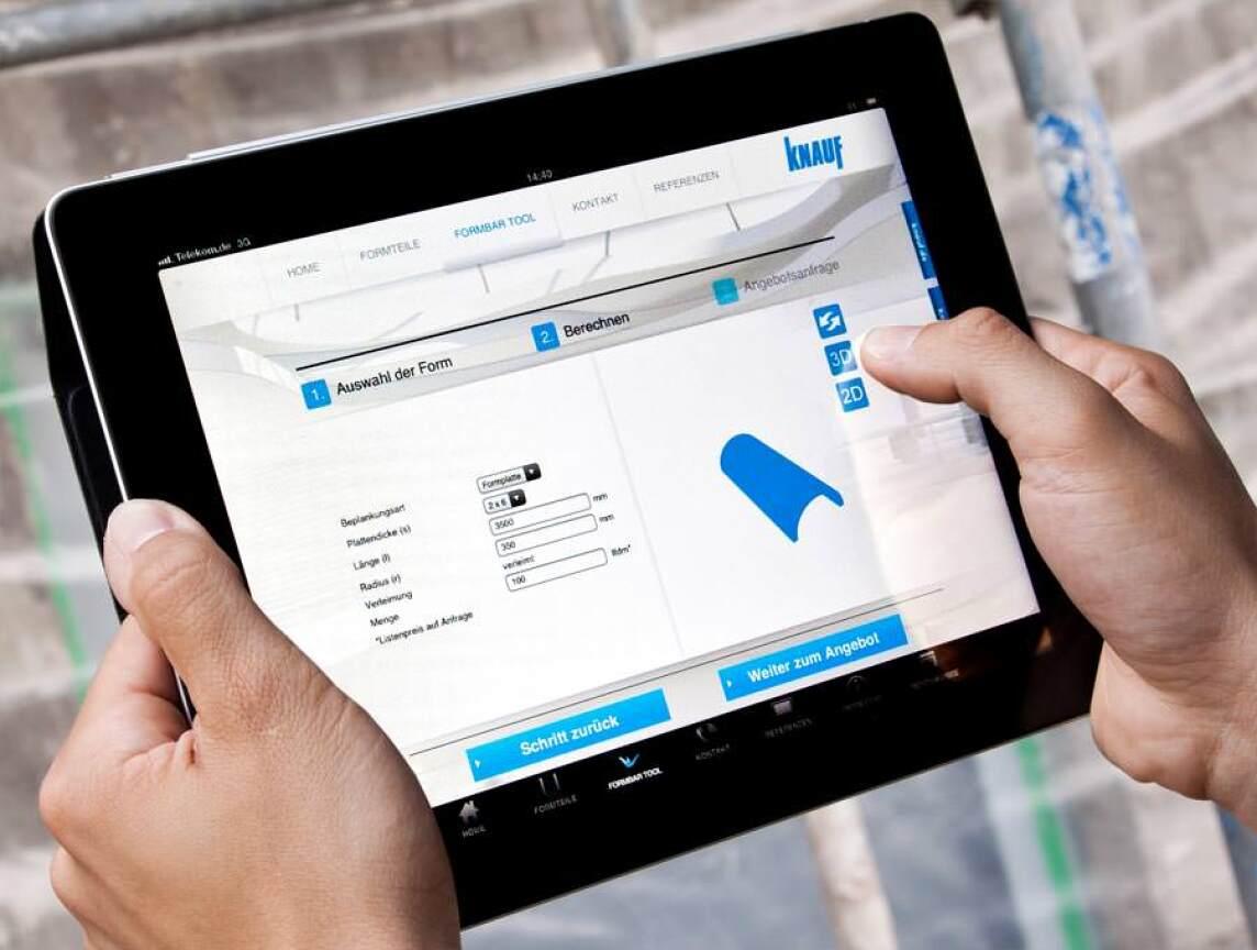 knauf formbar auch als ipad app. Black Bedroom Furniture Sets. Home Design Ideas