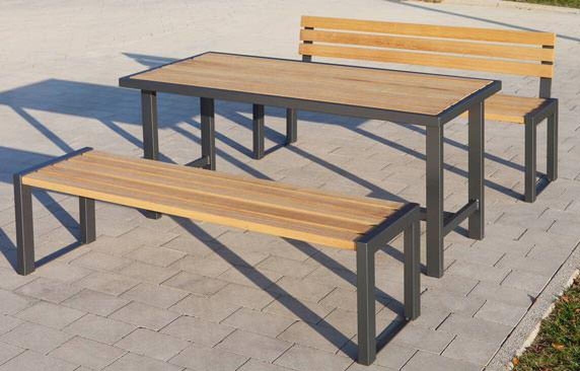 Bank-Tisch-Kombination