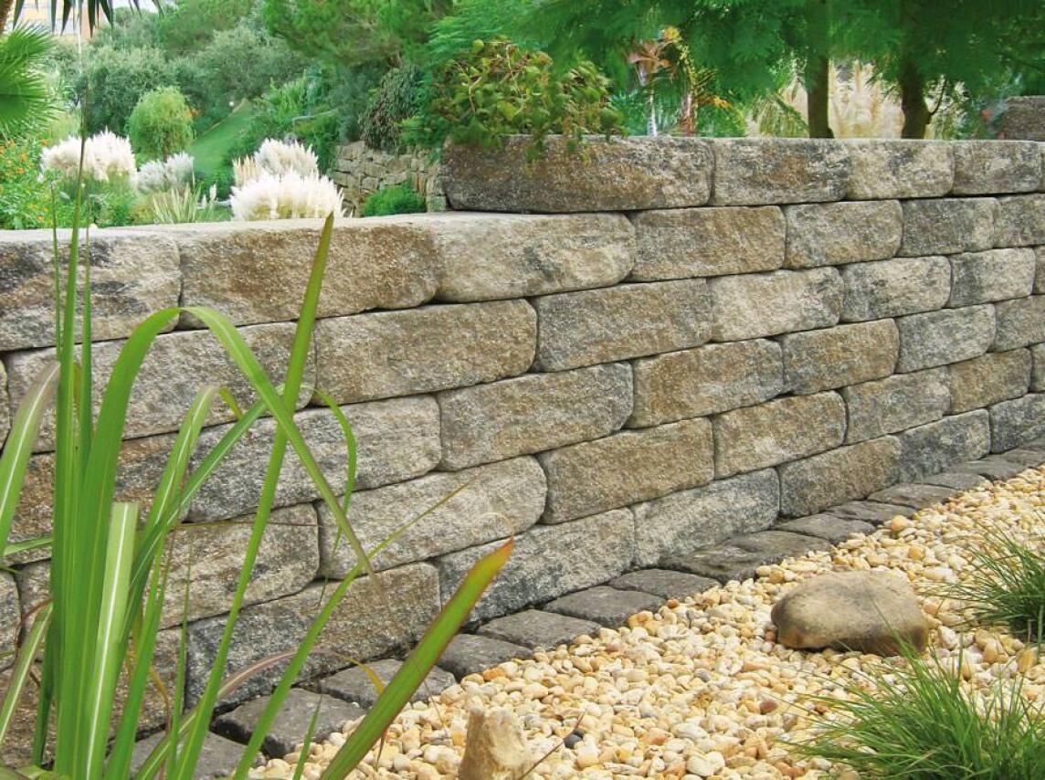Jasto Bruchstein Mauersystem Zwei Breiten Zwei Ausführungen Acht