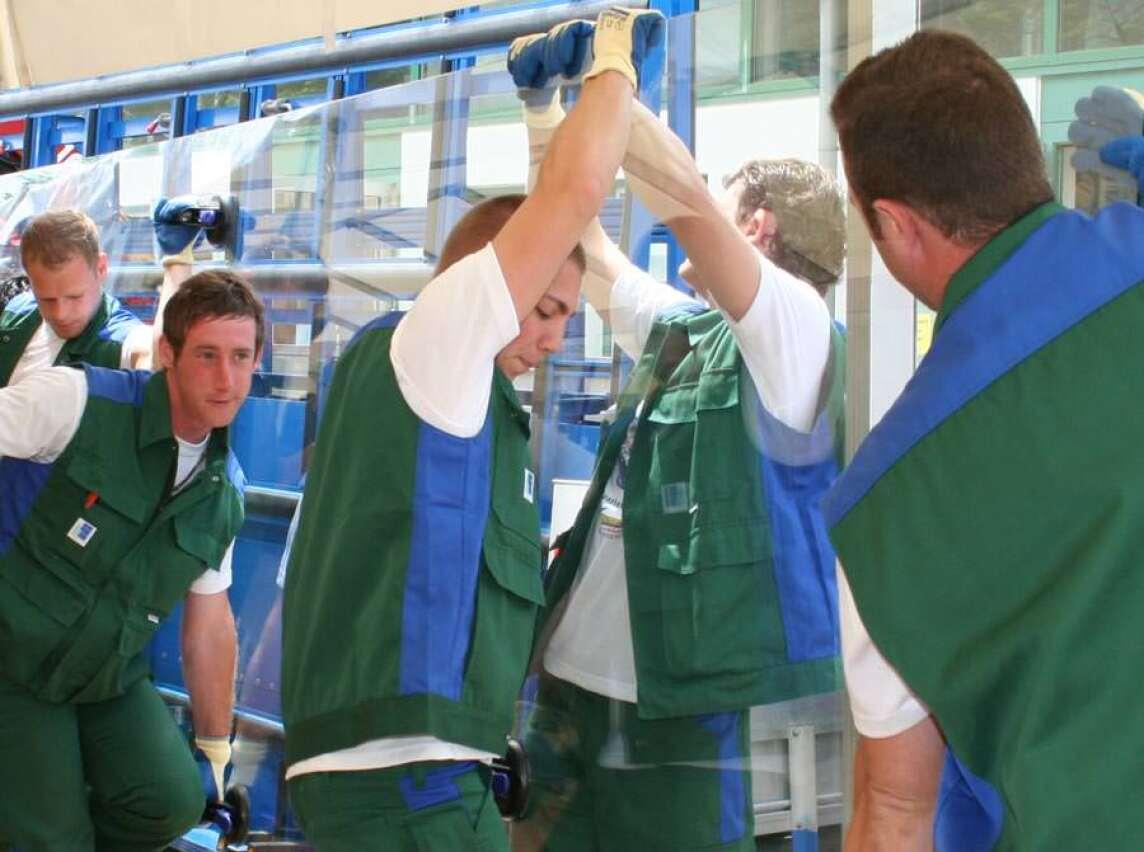 Dreifach-Isolierglas und immer größere Einheiten führen zu hohen Glasgewichten