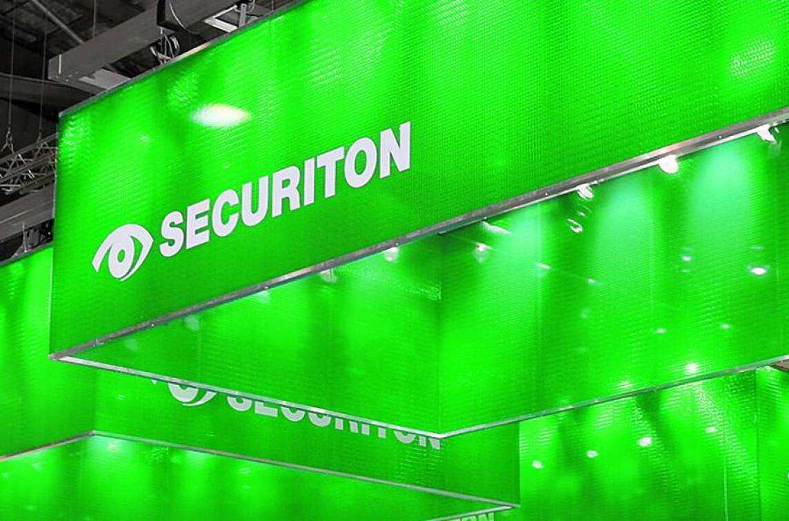 Security Messestand 2008 der Securiton GmbH (Foto: Atelier Türke Messedesign)