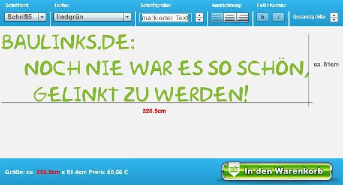 Wandtattoo-Konfigurator von Wandtattoo.com
