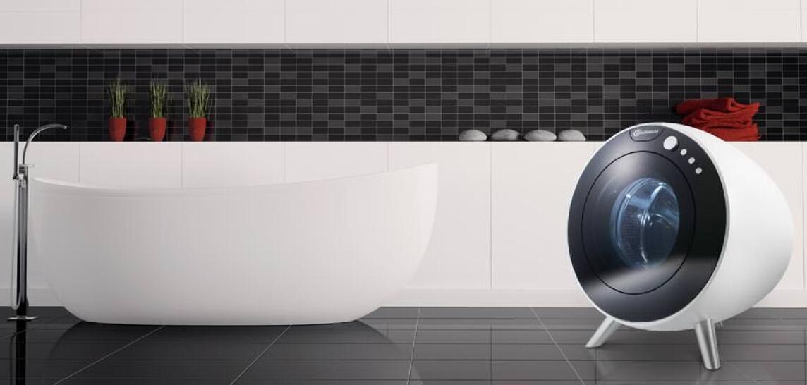runde Waschmaschine vom Designer Emami für Bauknecht
