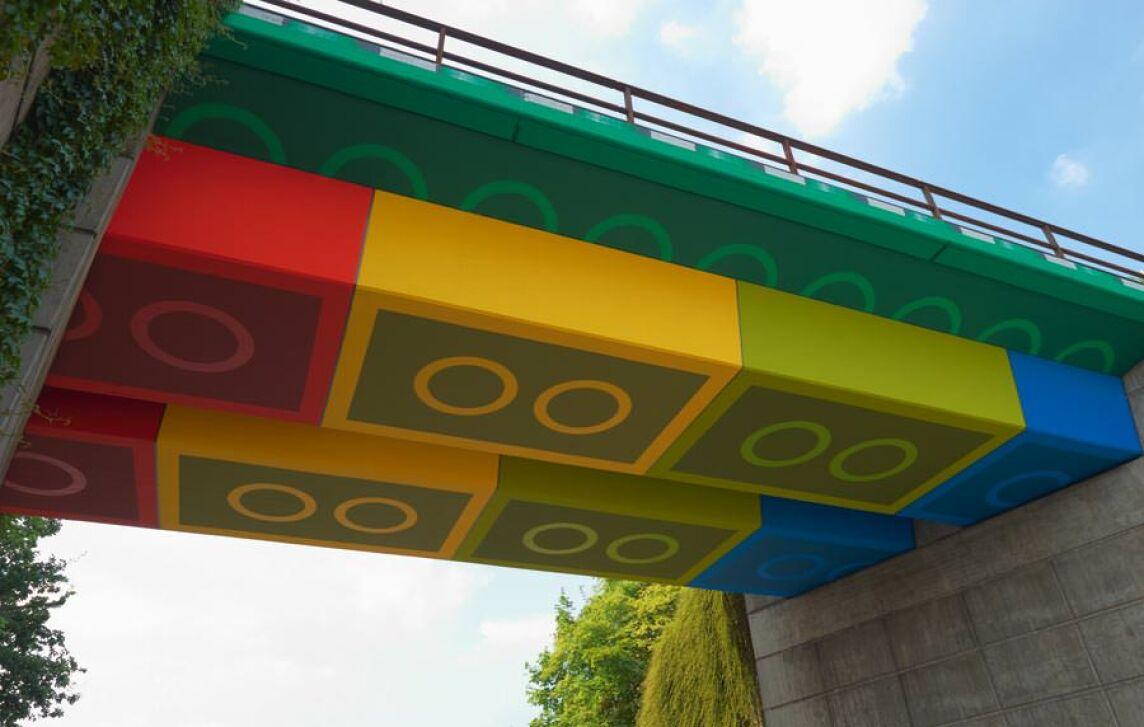 Lego-Brücke im Wuppertaler Ortsteil Elberfeld