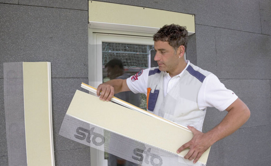 Fensterlaibung WDVS: Sto-Laibungselement Pronto