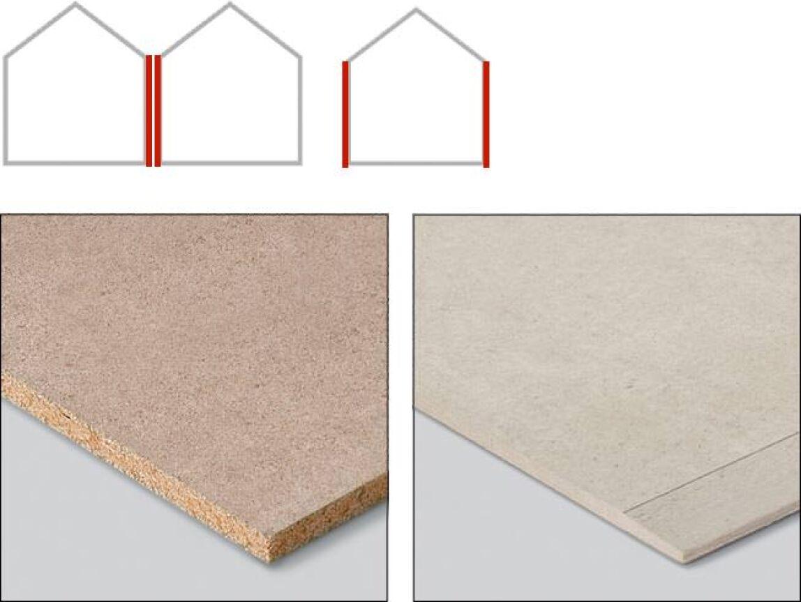 Duripanel und Hydropanel, die Eternit Ausbauplatten für eine geprüfte Gebäudeabschlusswand.