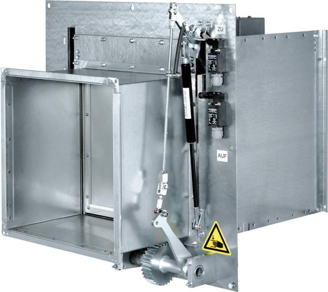 Die TROX KA-EU bietet 100% Sicherheit in gewerblichen Küchen.