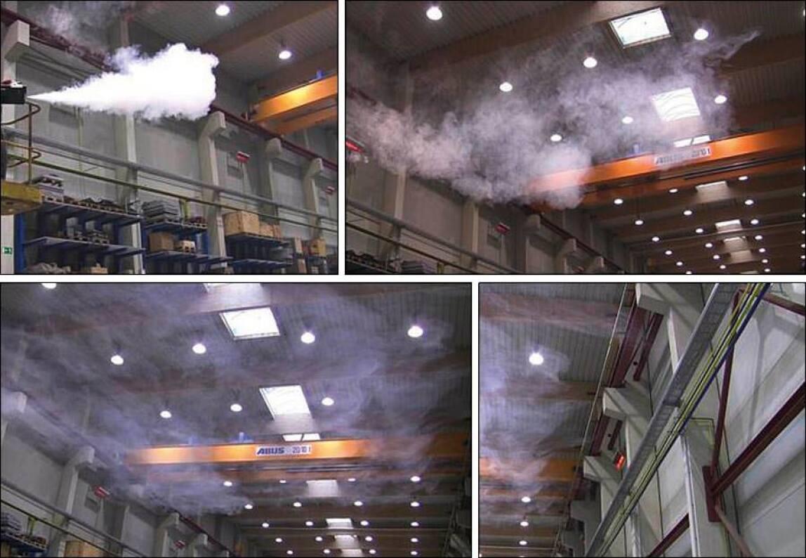 Schichtung der Luft in Höhe der HEllstrahler