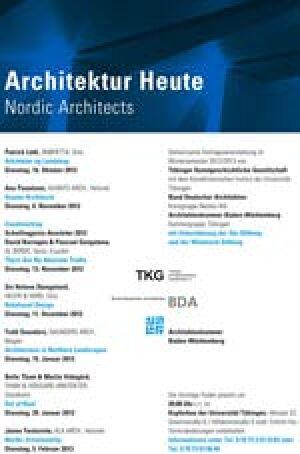 """Nordic Architects   Tübinger Vorlesungsreihe """"Architektur Heute"""""""