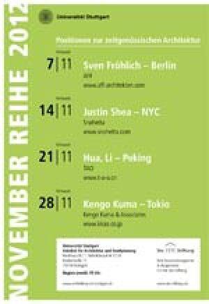 """Programm """"November Reihe"""" der Sto-Stiftung in Stuttgart"""