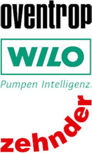 Logos von Oventrop, Wilo und Zehnder