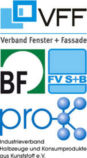 Bundesverbandes Flachglas (BF), Verband Fenster + Fassade (VFF), pro-K Industrieverband Halbzeuge und Konsumprodukte aus Kunststoff e.V., Fachverband Schloss- und Beschlagindustrie e.V.