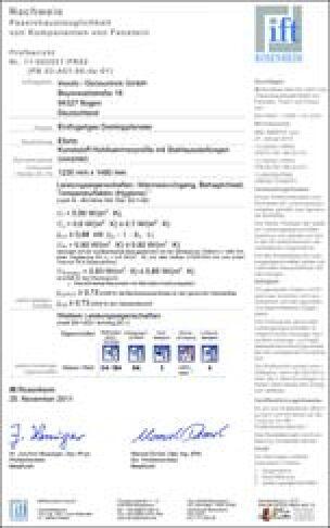ift-Zertifizierung für Passivhaustauglichkeit