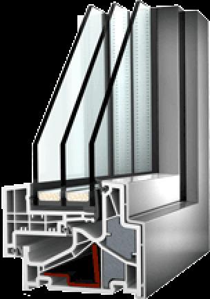 Kunststoff-Fenstersystem KF 500