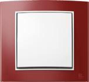 Lichtschalter Berker B.3 mit rotem Rahmen