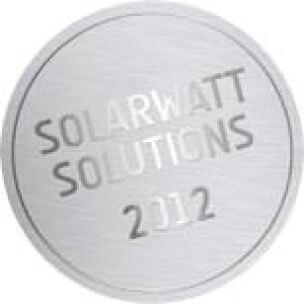 """Logo """"Solarwatt Solutions 2012"""""""