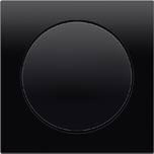 Berker R.3 - schwarzer Lichtschalter mit eckigem Rahmen