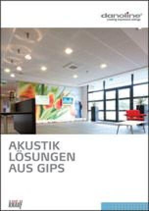"20-seitige Danogips Broschüre ""Akustiklösungen aus Gips"""