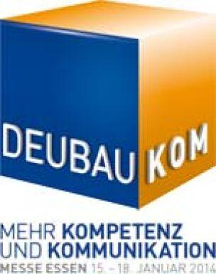 Logo DEUBAUKOM - Fachmesse für Architektur, Ingenieurkunst, Wohnungswirtschaft, Baugewerbe und Industriebau
