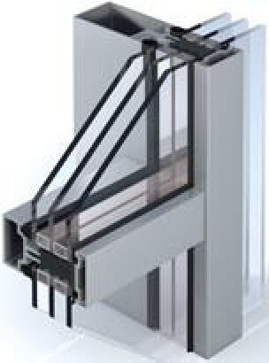 modulares Fassadensystem AA 100 HI von Kawneer