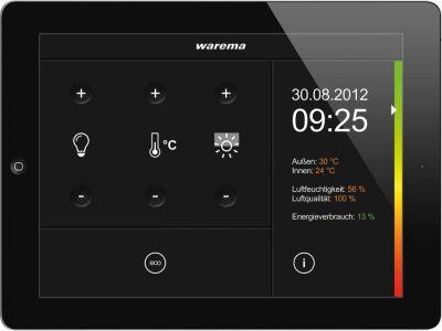 OptiControl auf einem iPad 2