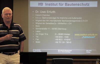 Dr. Uwe Erfurth,  IfB Institut für Bautenschutz