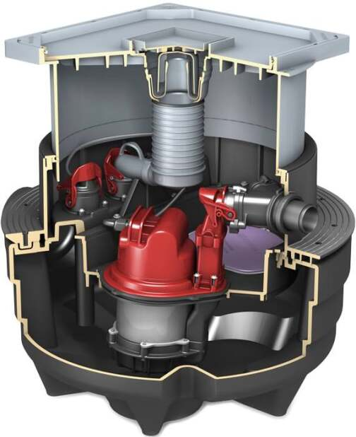 Aqualift F Compact: Neue geräuscharme Fäkalienhebeanlage