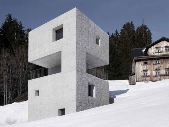 Schutzhütte im Laternsertal von Marte.Marte Architekten (Foto: Marc Lins)