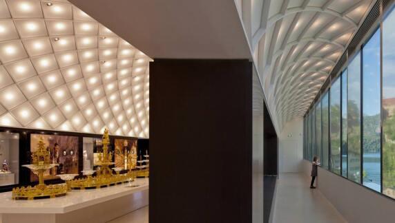Rautengewölbe der leichten Dachkonstruktion: Museum der Bayerischen Könige - Preis des Deutschen Stahlbaues 2012