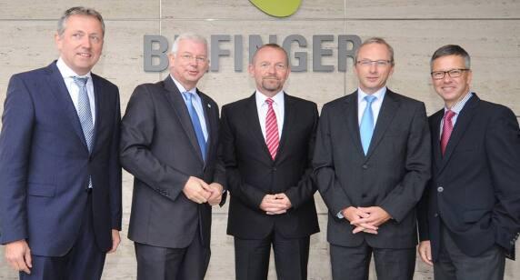 Peter Kurz (Oberbürgermeister Mannheim), Roland Koch (Bilfinger Vorstandsvorsitzender), Joachim Enenkel (Vorstand), Joachim Müller (Vorstand), Thomas Töpfer (Vorstand)