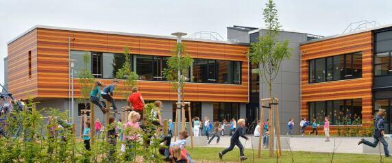 Passivhaus-Grundschule - Gutenbergschule im hessischen Dieburg