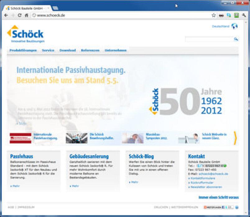 Schöck Bauteile verbessert Onlineangebot