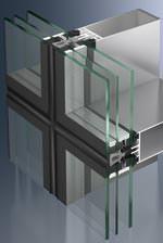 Schüco Structural-Glazing-Fassadensystem FW 50+ SG.SI in hochwärmegedämmter Ausführung.