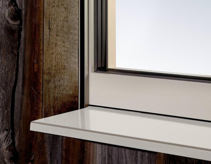 puristisch rahmenlos wirkendes fensterdesign aus der holz alu liga. Black Bedroom Furniture Sets. Home Design Ideas