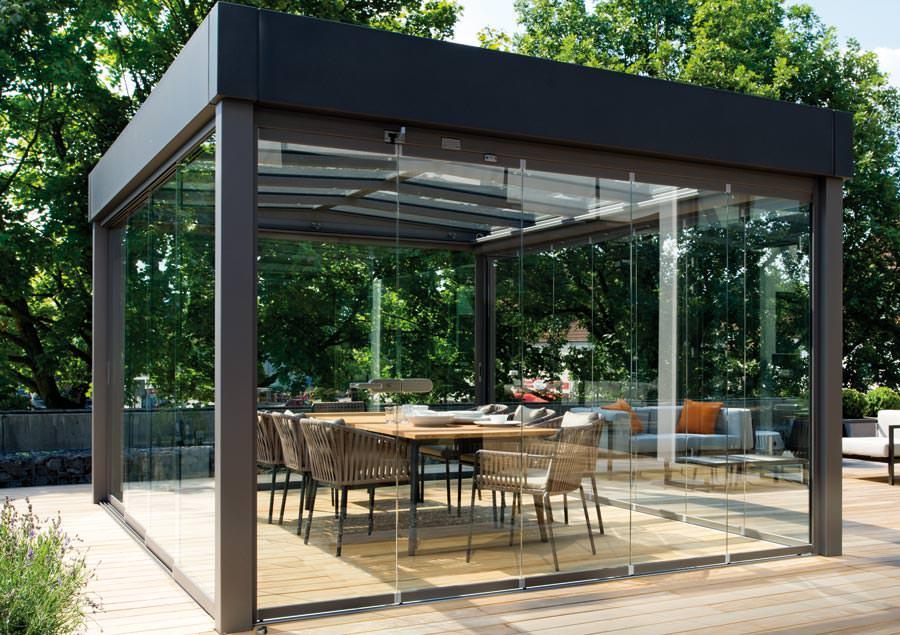 Solit r im bauhaus stil das flachdach glashaus atrium - Bauhaus pergolas ...