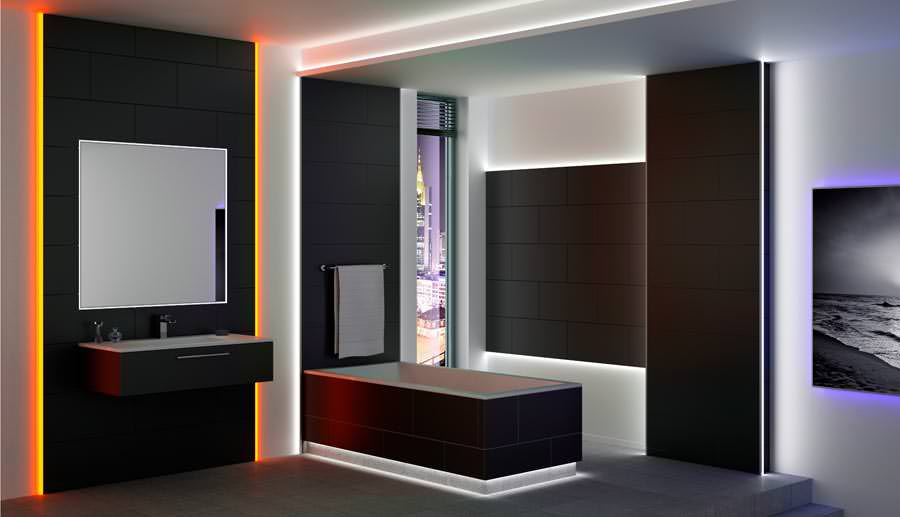schl ter liprotec r ume gestalten mit led profilen f r. Black Bedroom Furniture Sets. Home Design Ideas