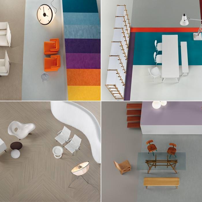 neue forbo linoleum kollektion mit kreativer vielfalt in farbe und struktur. Black Bedroom Furniture Sets. Home Design Ideas